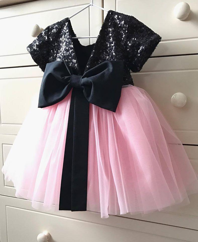 a5f9d3e394b ... Комплект еднакви рокли за майка и дъщеря с пайети и тюл в розово и  червено
